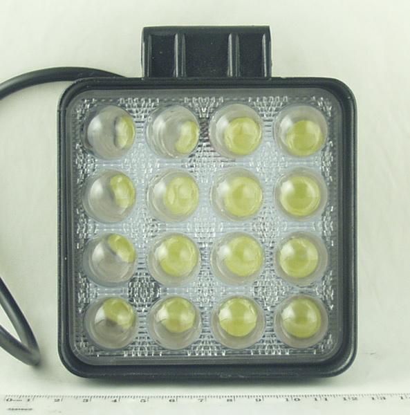 Фары светодиодные 16 ламп 48W квадрат. DC-16 48SQ-S