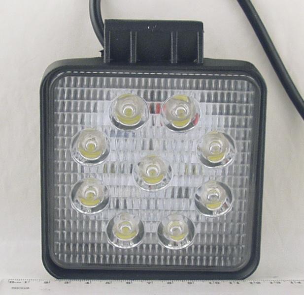 Фары светодиодные 9 ламп 27W квадрат. DC-9 27SQ