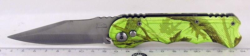 Нож 803 (A803) выкид, зеленый трофи