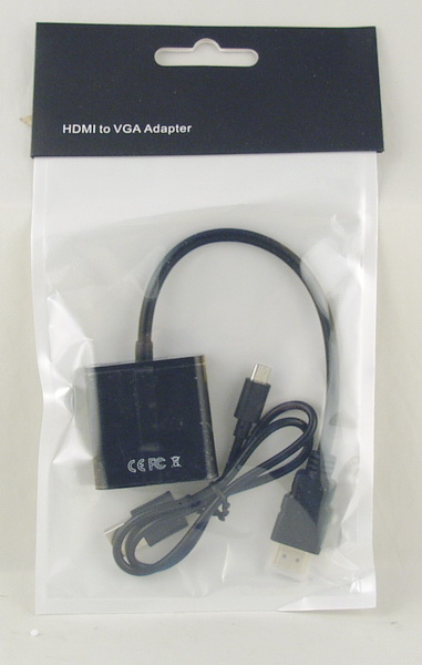 Переходник HDMI-VGA + V8 (с питанием)