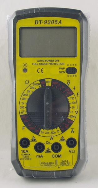 Цифровой Мультиметр DT-9205A 10A max (в калоше)