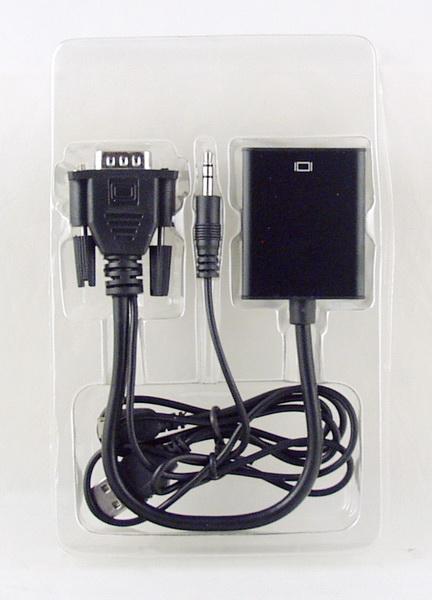 Переходник  VGA-HDMI+AUX с шнуром