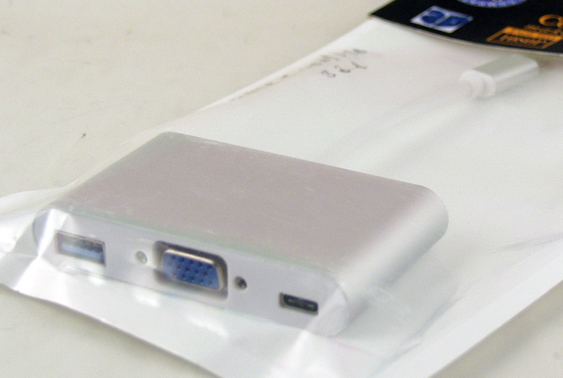 Переходник TYPE-C-VGA/USB 3в1