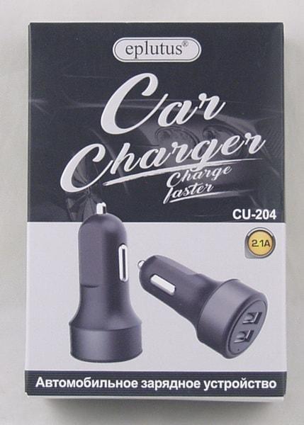 Блок питания для MP3 (2 USB,без шн.) 5V 2,1A прикур. CU-204