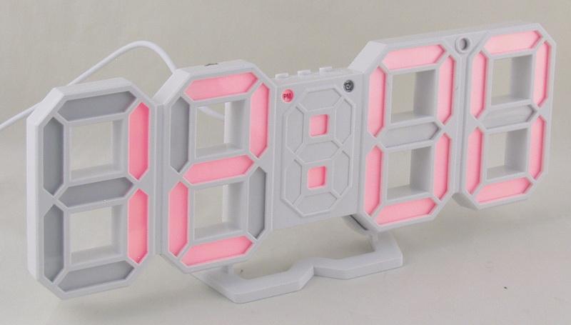 Часы-буд. электронные VST-883-1 (крас. циф.)