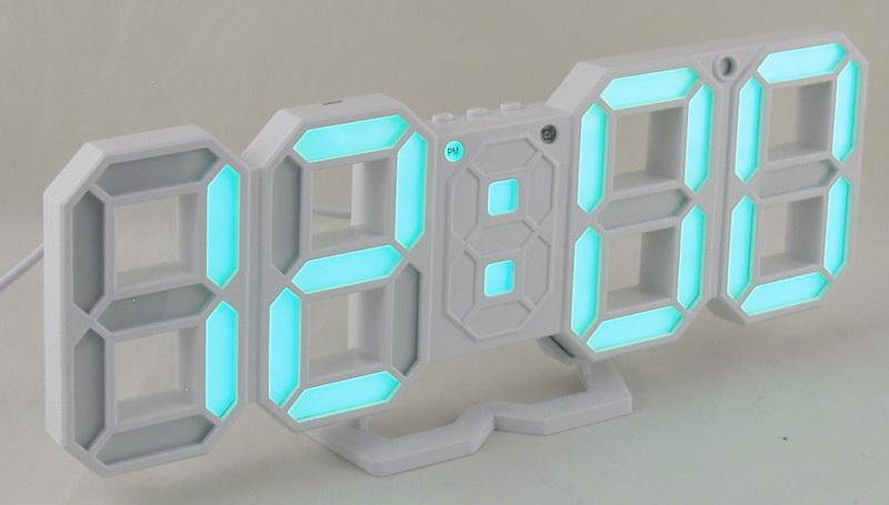 Часы-буд. электронные VST-883-4 (ярко-зелен. циф.)