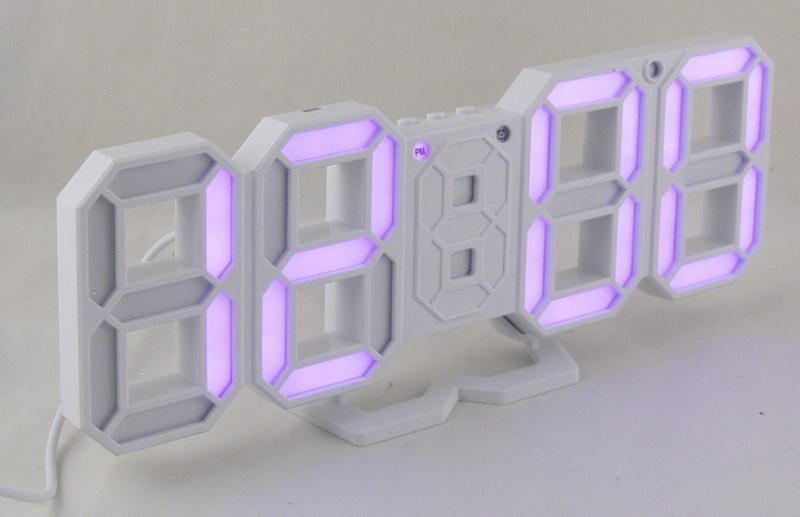 Часы-буд. электронные VST-883-7 (сиренев циф.)