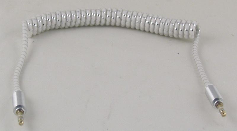 Шнур AUX (Джек 3,5 - Джек 3,5) 1м витой J-115 NEW
