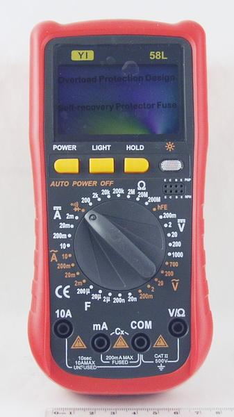 Цифровой Мультиметр №58L 10A (в калоше)