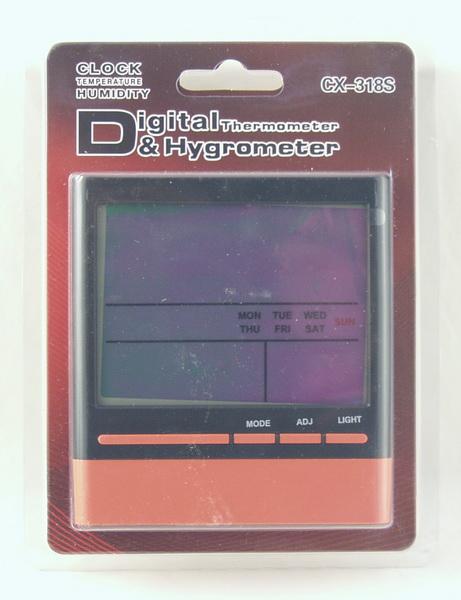 Термом.+ гигрометр цифровой CX-318S с часами