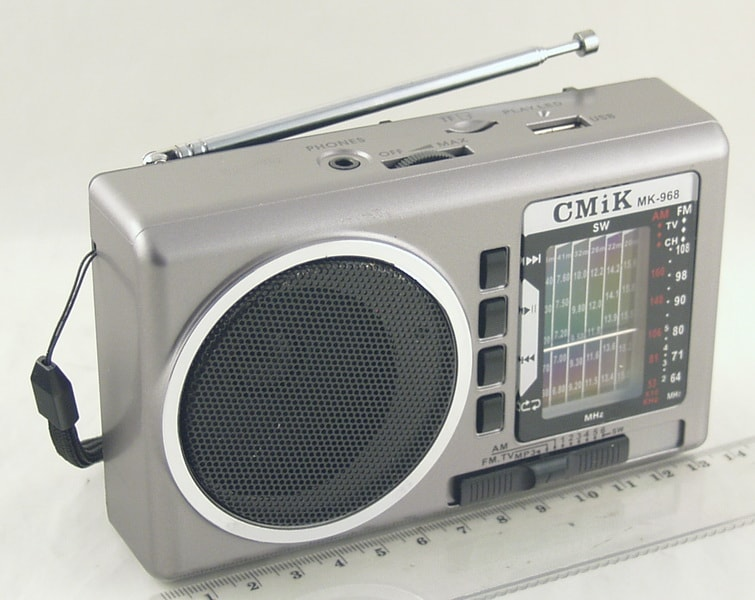 MK-968 9 band (FM 64-108,AM) USB, SD аккум., фонарь