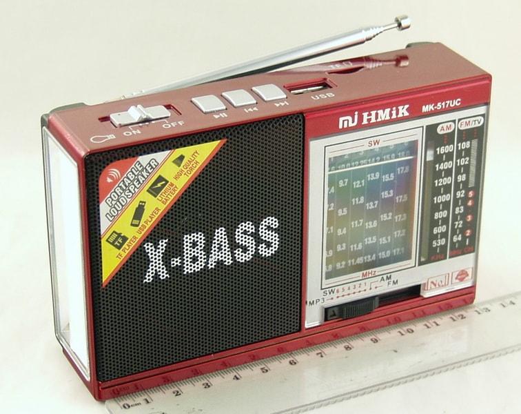 Радиоприёмник MK-517UC 8 band (FM 64-108,AM) USB, SD фонарь