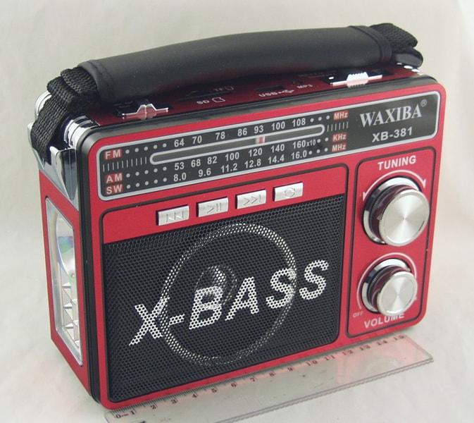 XB-381URT (FM, AM 4 Band) SD, USB сетев. дорогой NEW 1+6 ярк., аккум.