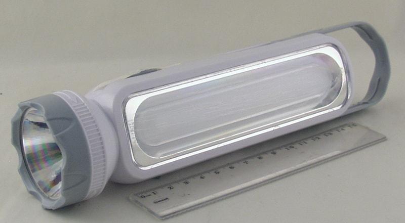 Фонарь светодиодный (1 больш.+ 1 ярк. аккум.)  YJ-1051 (вилка 220V)