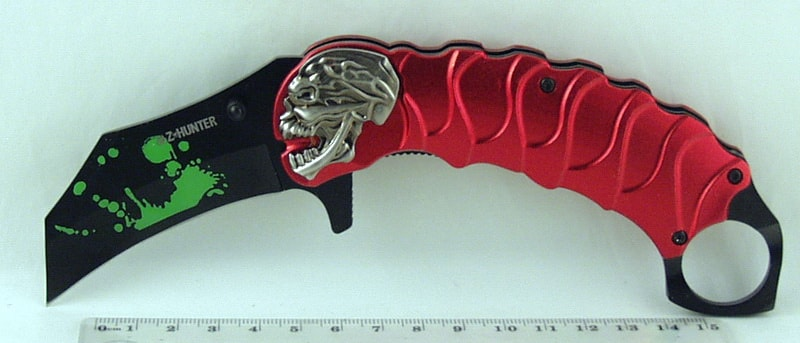 Нож 058 (ZB-058) раскладн. керамбит