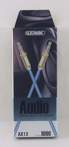 Шнур AUX (Джек 3,5 - Джек 3,5) 1м AX-13 в короб.