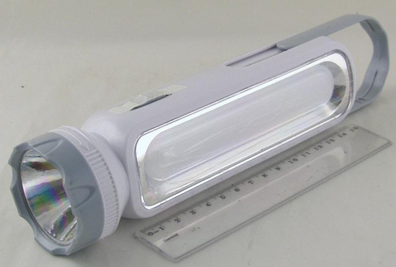 Фонарь светодиодный (1 больш.+ 1 ярк. аккум.)  YJ-1051T (вилка 220V) солнеч. бат. ??