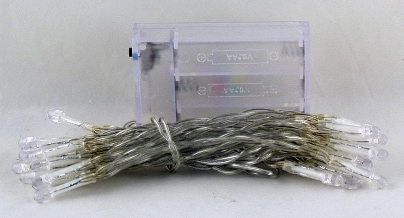 Гирлянда 30 светодиод (6 мм) 2цв.в1 прозрачн. от батар. 3AA