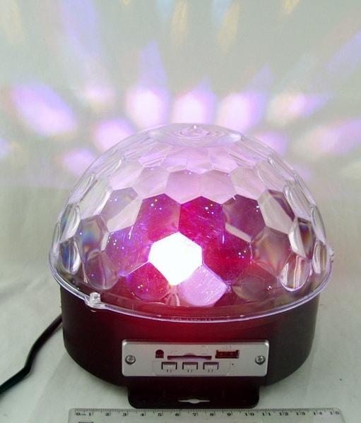 Светодиодный диско шар M-6 USB Bluetooth