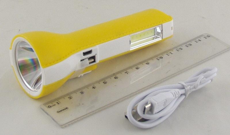 Фонарь светодиодный (1 больш.+ 1 ярк. аккум.) LL-5831 USB