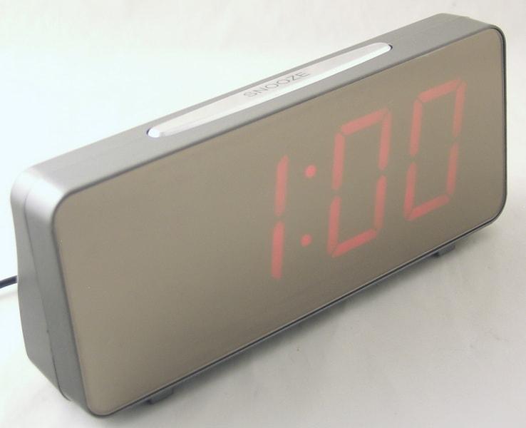 Часы-буд. электронные VST-763Y-1 (крас. циф.)