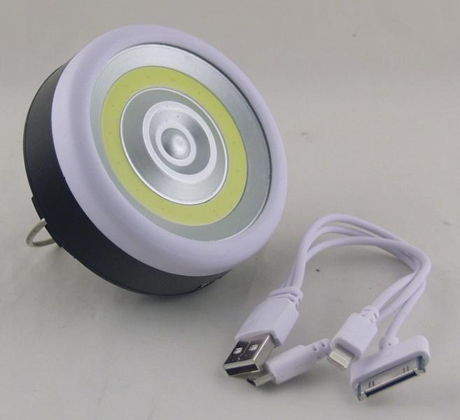 Фонарь светодиодный (1 больш. лампа, 3AА + аккум.) YD-995