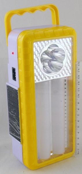 Фонарь светодиодный (2 больш.+ 5 ярк.. аккум./ 3AA) №6819T солнечн. батар.