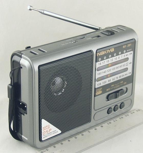 RF-391 (FM, AM 3 Band) SD, USB аккум., фонарь