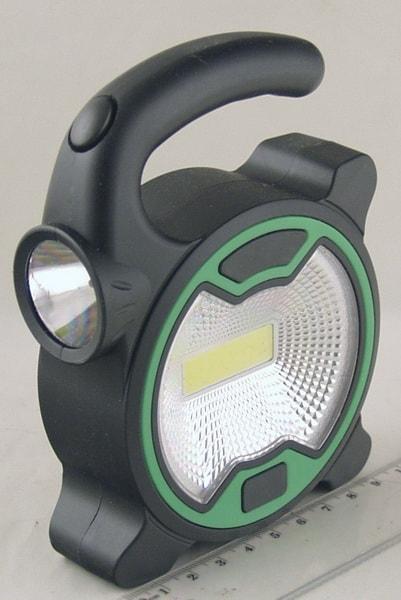 Фонарь светодиодный (1 больш.+1ярк. 3AA) T-915