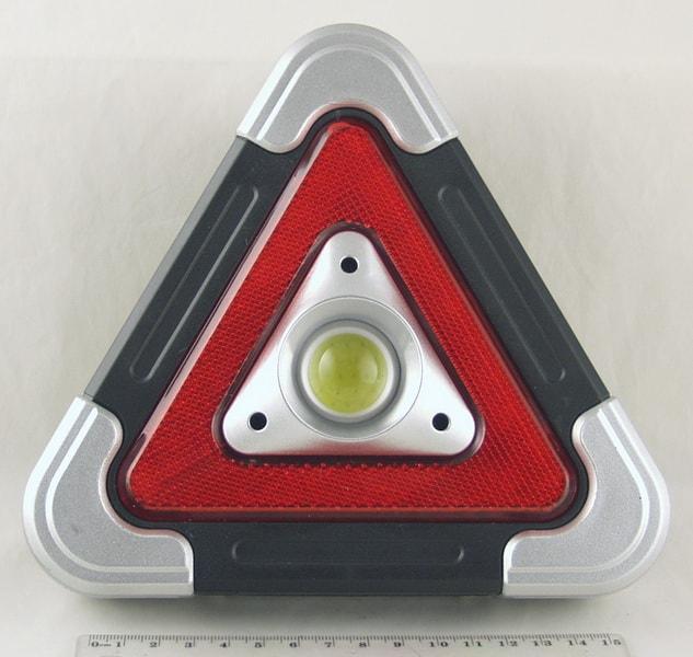 Фонарь (Знак аварийной остановки) 1 больш.+ красн. аккум. №6609 USB солнечн.