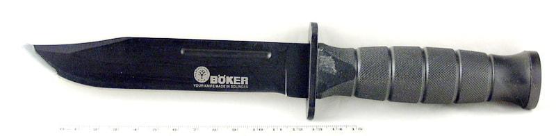Нож 541 (D541) в чехле, черн. ручка (охотнич.) BOKER