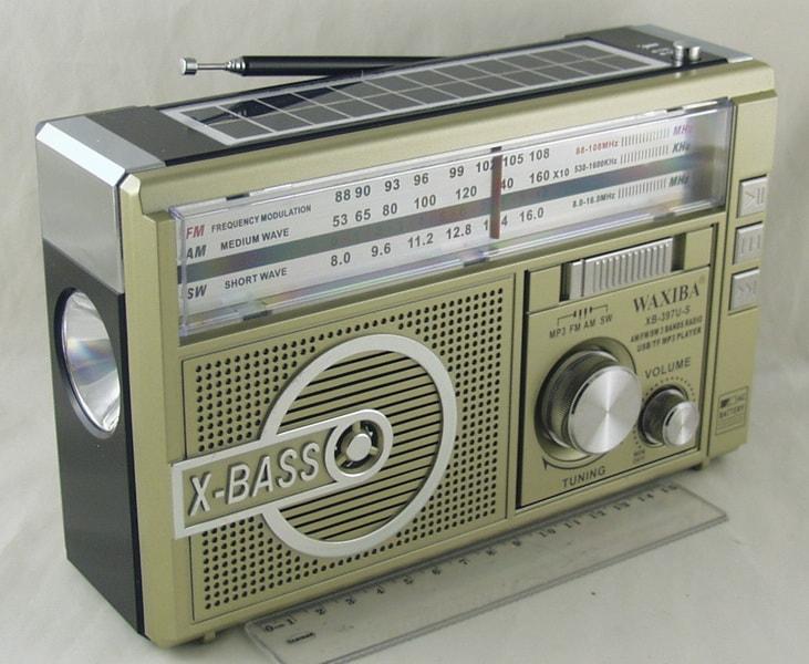 Радиоприёмник XB-397U-S 4 band (FM/AM/SW1,2)) USB, SD встроен. аккум.