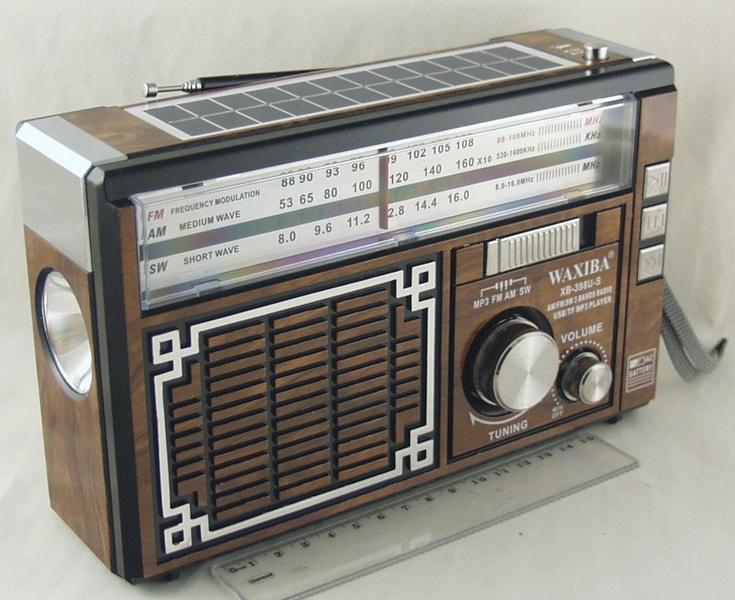 Радиоприёмник XB-398US 4 band (FM/AM/SW1,2)) USB, SD встроен. аккум.