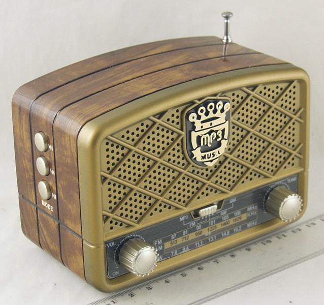Радиоприёмник M-138BT (FM,,AM,SW) SD, USB сетев., встроен. аккум. Bluetooth