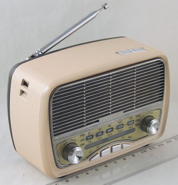 Радиоприёмник M-165BT (FM,,AM,SW) SD, USB сетев., встроен. аккум. Bluetooth