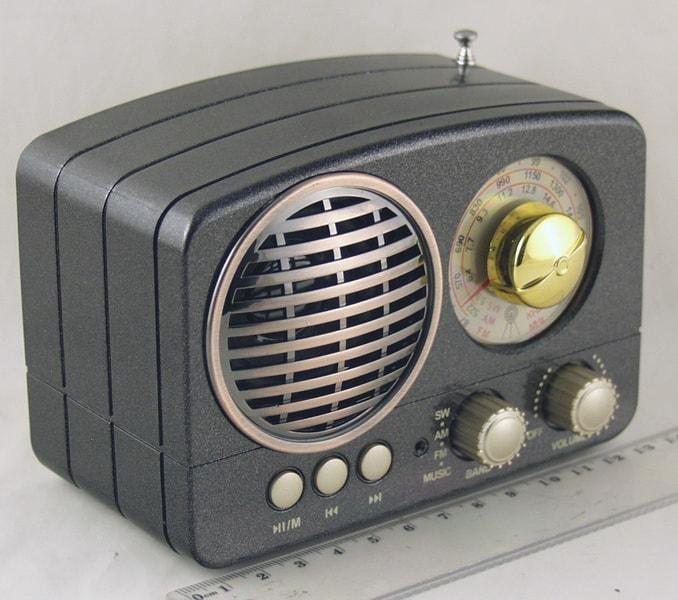 Радиоприёмник M-161BT (FM,,AM,SW) SD, USB сетев., встроен. аккум. Bluetooth
