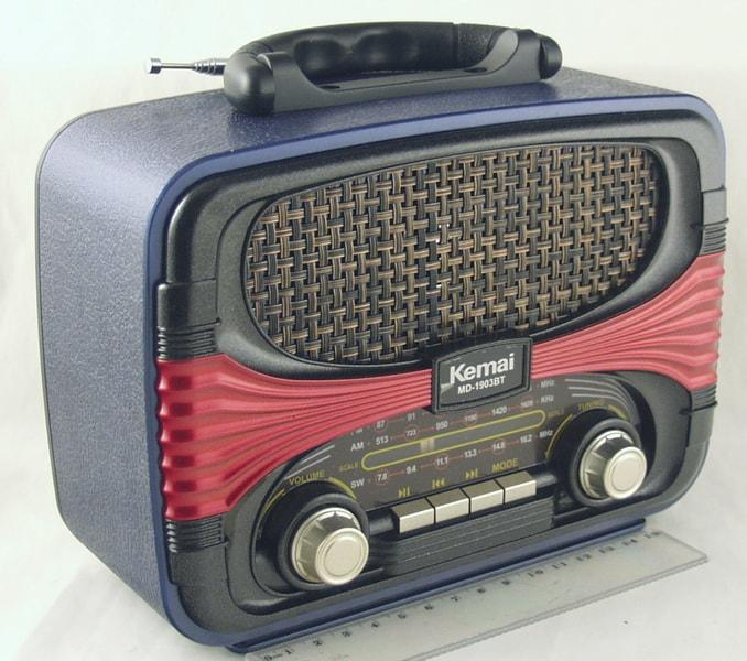 Радиоприёмник M-D1903BT 4 band (FM/AM/SW) USB, SD встроен. аккум. ретро сетев./2R20