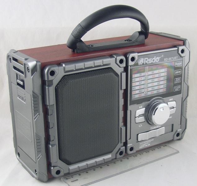 Радиоприёмник RD-067UBT (FM,,AM,SW1-6) SD, USB встроен. аккум. сетев. Bluetooth