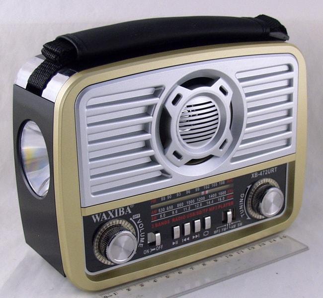 Радиоприёмник XB-472U (FM/AM/FM) SD, USB сетев. встроен. аккум. фонарь