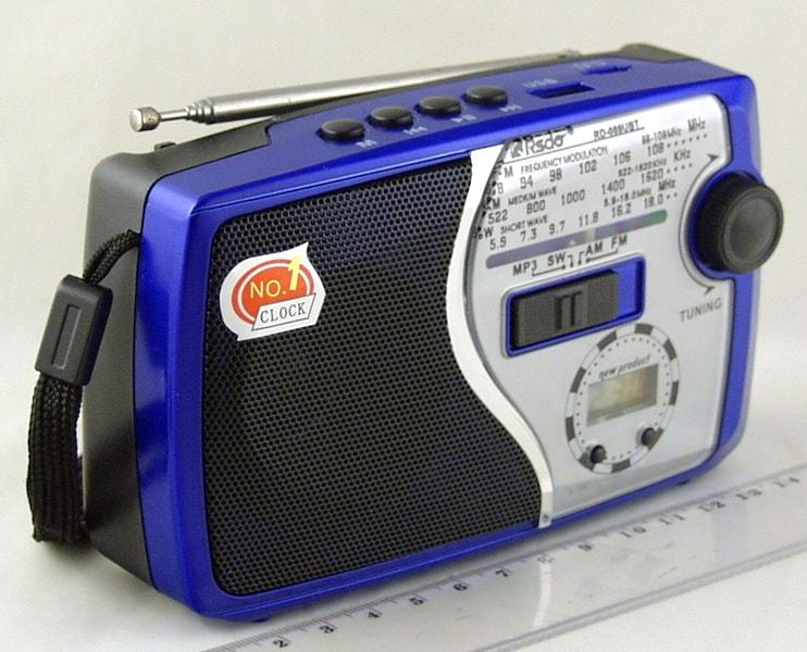 Радиоприёмник RD-089UBT (FM,,AM,SW) SD, USB встроен. аккум. Bluetooth