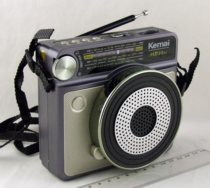 Радиоприёмник MD-V6BT (FM,,AM,SW) SD, USB встроен. аккум. Bluetooth