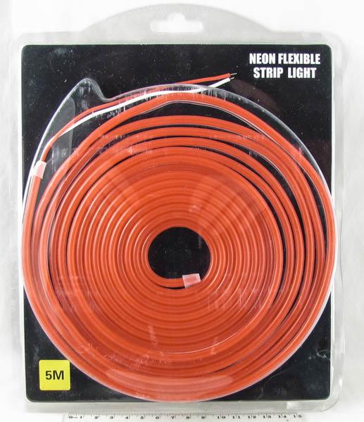 Светодиодная неоновая лента красная 12V 5м блистер