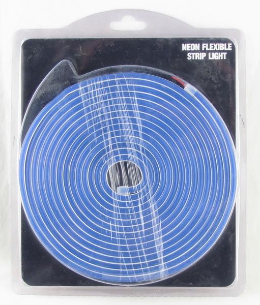 Светодиодная неоновая лента синяя 12V 5м мигающая блистер
