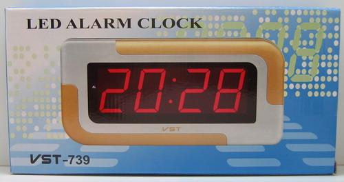 Часы-буд. электронные VST-739-2 (зел. циф.)