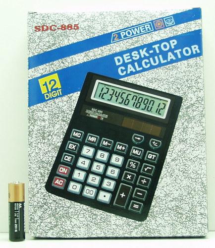Калькулятор 885 (SDC-885) 12-разр., больш. экран