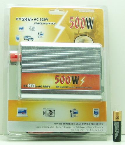 Преобразователь напряжения 24V-220V 500W  1 роз. деш.