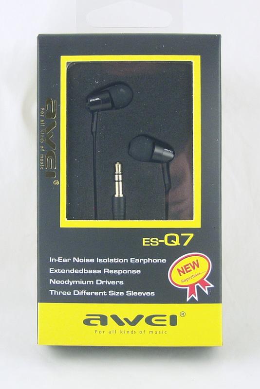 Наушники AWEI Q-7 вакуум. в короб.