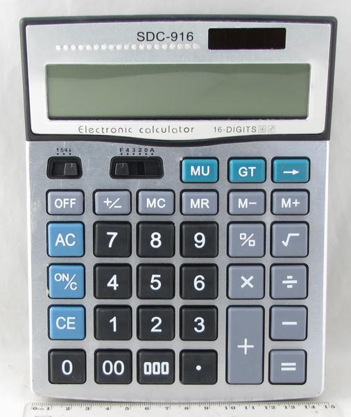 Калькулятор 916 (SDC-916) 16 разр. больш. экр.