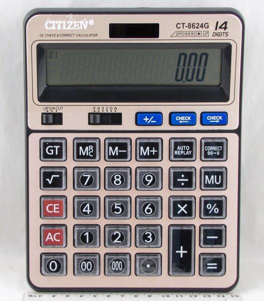 Калькулятор 8624 (CT-8624G) 14 разр. большой экран, CHECK